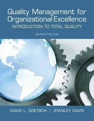 Quality Management for Organizational Excellence 7th Edition 9780132558983 013255898X