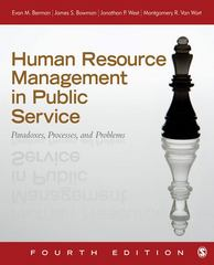 Human Resource Management in Public Service 4th edition 9781412991674 1412991676