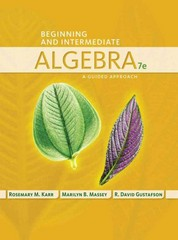 Beginning and Intermediate Algebra 7th Edition 9781285965840 1285965841