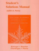 Student Solutions Manual for College Algebra: Graphs and Models 4th edition 9780321529046 0321529049