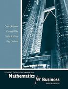 Student's Solutions Manual for Mathematics for Business 8th edition 9780321543042 0321543041