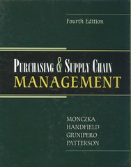 Purchasing and Supply Chain Management 4th edition 9780324381344 0324381344