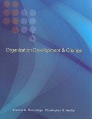 Organization Development and Change (with InfoTrac College Edition Printed Access Card) 9th edition 9780324421385 0324421389
