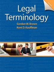 Legal Terminology 6th Edition 9780132738767 0132738767