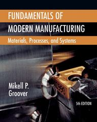 Fundamentals of Modern Manufacturing 5th Edition 9781118476550 1118476557
