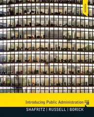 Introducing Public Administration 8th Edition 9780205855896 020585589X