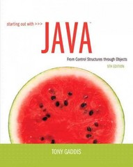 Starting Out with Java 5th Edition 9780132855839 0132855836