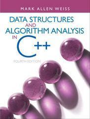 Data Structures and Algorithm Analysis in C++ 4th Edition 9780132847377 013284737X
