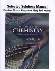 Selected Solution Manual for Principles of Chemistry 2nd edition 9780321751836 0321751833