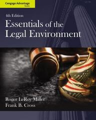 Cengage Advantage Books: Essentials of the Legal Environment 4th edition 9781133586548 1133586546