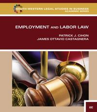 Employment and Labor Law 8th Edition 9781285657400 1285657403