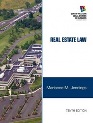 Real Estate Law 10th edition 9781133586555 1133586554