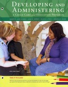 Cengage Advantage Books: Developing and Administering a Child Care and Education Program 8th edition 9781133525493 1133525490