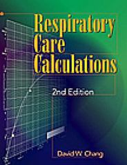 Respiratory Care Calculations 2nd edition 9780766805170 0766805174