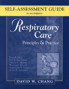 Self-Assessment Guide to Accompany Respiratory Care 1st edition 9780721696966 0721696961