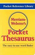 Merriam-Webster's Pocket Thesaurus 1st Edition 9780877795247 087779524X