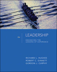Leadership: Enhancing the Lessons of Experience 6th Edition 9780073405049 0073405043