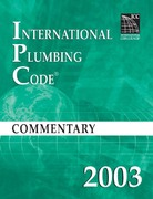 2003 International Plumbing Code Commentary 1st edition 9781580011297 1580011292