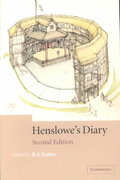 Henslowe's Diary 2nd edition 9780521524025 0521524024