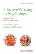 Effective Writing in Psychology 2nd Edition 9780470672440 0470672447