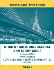 Student Solutions Manual Advanced Engineering Mathematics, Volume 2 10th Edition 9781118266700 1118266706