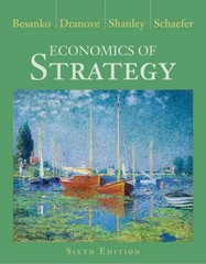 Economics of Strategy 6th Edition 9781118273630 111827363X