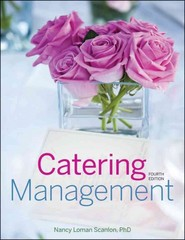 Catering Management 4th Edition 9781118091494 1118091493