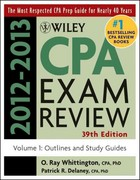 Wiley CPA Examination Review, Outlines and Study Guides 39th edition 9781118254493 111825449X