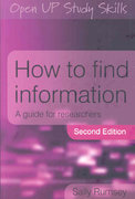 How to Find Information 2nd edition 9780335226313 0335226310