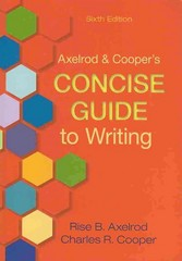 Axelrod and Cooper's Concise Guide to Writing 6e & Pocket Style Manual 6e 6th edition 9781457621567 1457621568