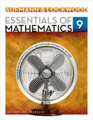 Essentials of Mathematics 9th edition 9781133734147 1133734146