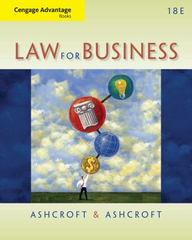 Cengage Advantage Books: Law for Business 18th Edition 9781133587613 1133587615