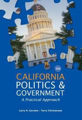 California Politics and Government 12th edition 9781133587651 1133587658