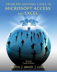 Problem Solving Cases in Microsoft Access and Excel 10th Edition 9781133629795 1133629792