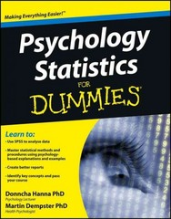 Psychology Statistics For Dummies 1st Edition 9781119952879 1119952875