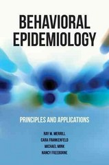 Behavioral Epidemiology 1st Edition 9781449648282 1449648282