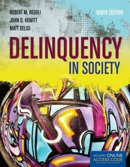 Delinquency in Society 9th Edition 9781449645519 1449645518