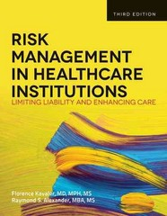 Risk Management In Health Care Institutions 3rd Edition 9781449645656 1449645658