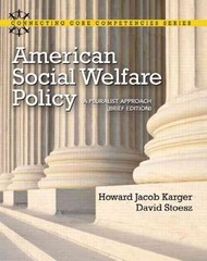 American Social Welfare Policy 1st edition 9780205053285 0205053289
