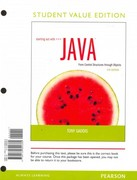 Starting Out with Java: Control Structures through Objects Student Value Edition 5th edition 9780132890380 0132890380
