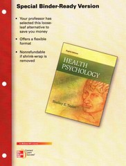 Looseleaf for Health Psychology 8th edition 9780077527938 0077527933