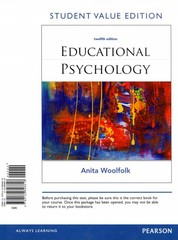 Educational Psychology, Student Value Edition 12th Edition 9780132896818 0132896818