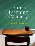 Human Learning and Memory 1st Edition 9781139200295 1139200291