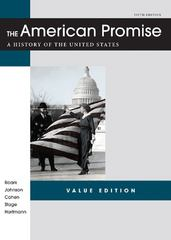 The American Promise Value Edition, Combined Version 5th edition 9781457613456 145761345X
