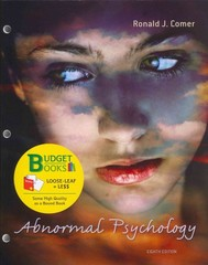 Abnormal Psychology (Loose Leaf) (Budget Books) 8th edition 9781464102189 146410218X