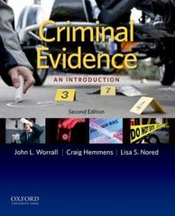 Criminal Evidence: An Introduction 2nd Edition 9780199341290 019934129X