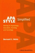 APA Style Simplified 1st edition 9780470671238 0470671238