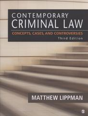 Contemporary Criminal Law 3rd edition 9781452230023 1452230021