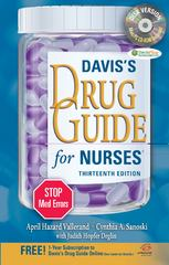 Davis's Drug Guide for Nurses + Resource Kit CD-ROM 13th edition 9780803628335 0803628331