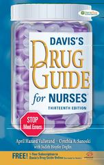 Davis's Drug Guide for Nurses 13th Edition 9780803628342 080362834X